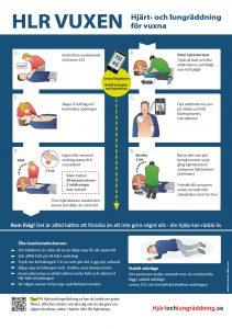 Gratis hlr affisch vuxen handlingsplan plansch - hjärt- och lungräddning