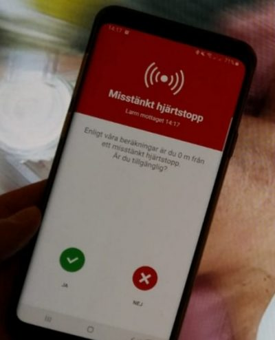 SMS-livräddare - larm om ett misstänkt hjärtstopp