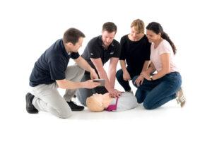 HLR-instruktörsutbildning (barn, vuxen, D-HLR instruktör) Hjärt och lungräddning instruktör
