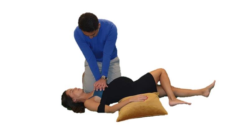 Gravid kvinna i stabilt sidoläge 4