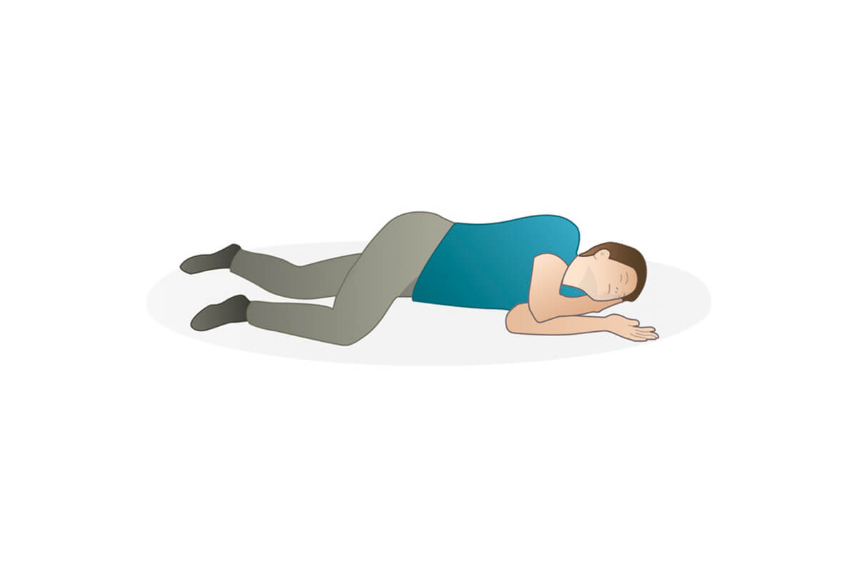 Hur lägger man en gravid kvinna i stabilt sidoläge?