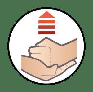 Buktryck - så håller du handen