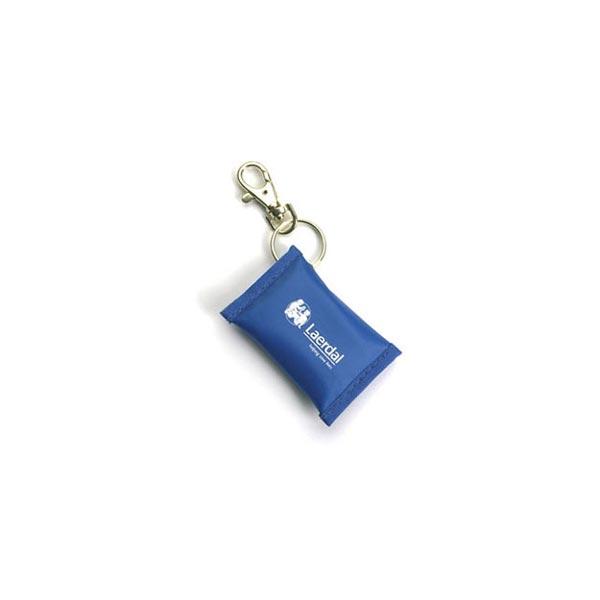 Ansiktsmask för HLR mun-mot-mun-mask nyckelring blå