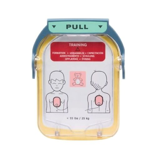 Begagnad träningselektrodkassett barn hjärtstartare Philips HS1