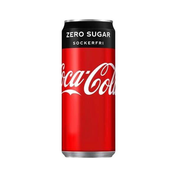 Coca cola zero burk 33 cl