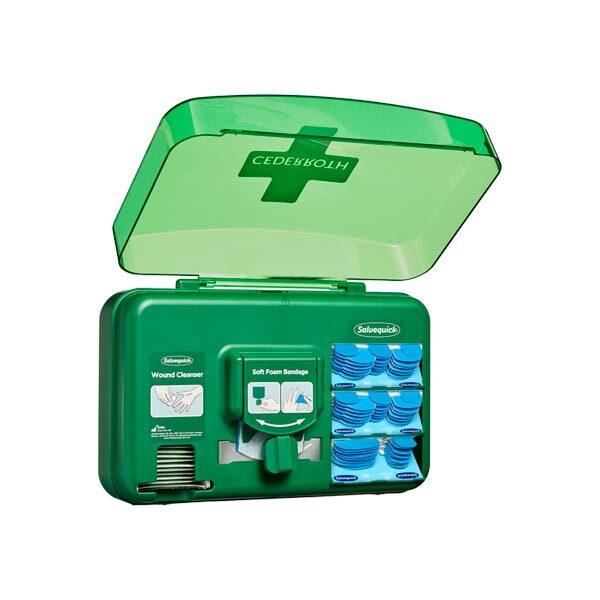 Första hjälpen-tavla Cederroth Wound Care Dispenser Blå