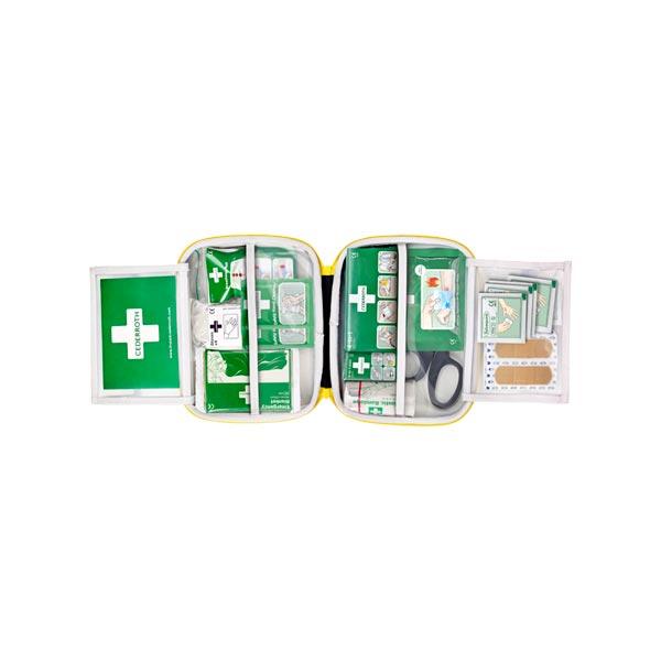 Första hjälpen väska Cederroth First Aid Kit Medium öppen