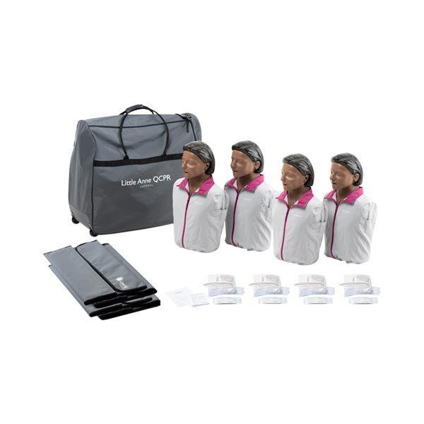 HLR-docka Little-Anne QCPR 4-pack med mörk hud
