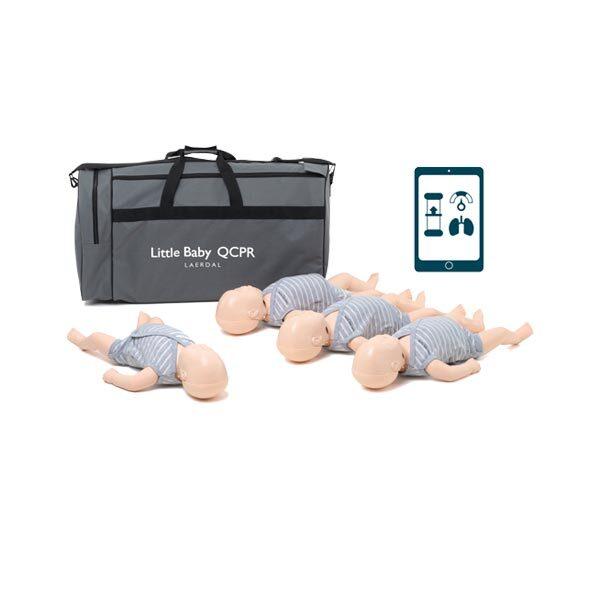 HLR-docka Little Baby QCPR 4-pack inklusive väska ljus hud