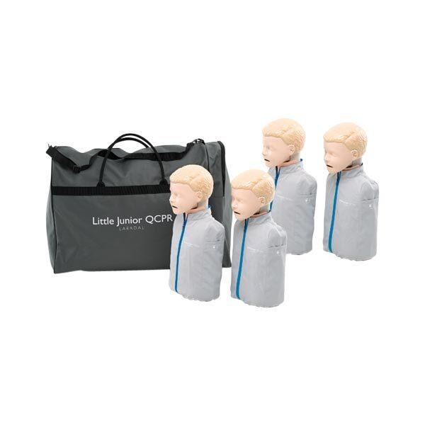 HLR-docka Little Junior QCPR 4-pack inklusive väska ljus hud