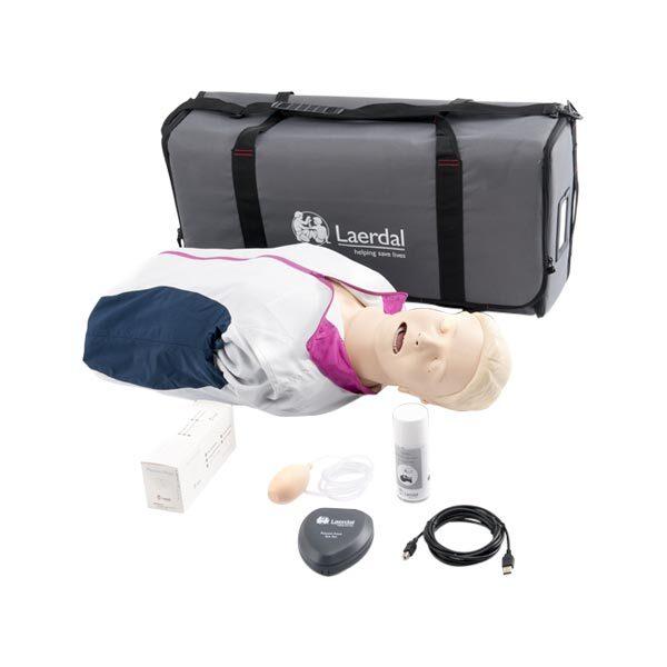 HLR-docka vuxen Resusci Anne QCPR Halvkroppsdocka inklusive väska