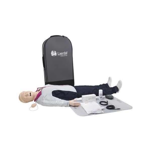 HLR-docka vuxen Resusci Anne QCPR Helkroppsdocka inklusive väska