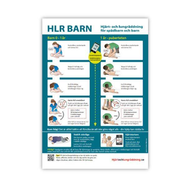 Handlingsplan HLR HLR affisch barn storlek A3