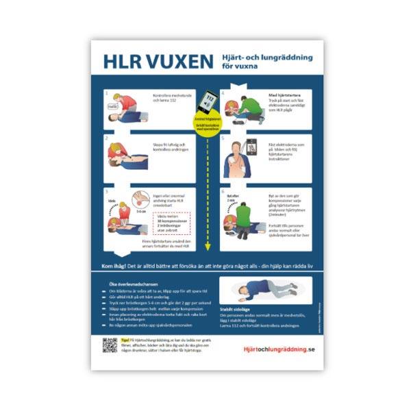 Handlingsplan HLR HLR-affisch vuxen storlek A3