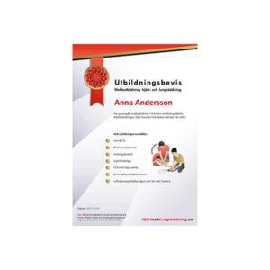 Utbildningsbevis HLR- utbildning